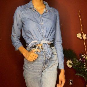 Light Blue Denim Shirt (vintage-look)